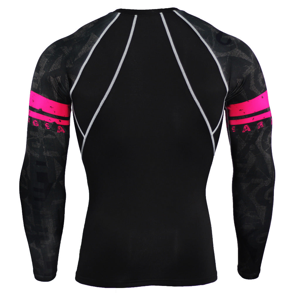 Men's Compression 3D Teen Wolf Jerseys Long Sleeve