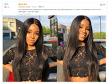 Full Ends Silky Straight Lace Front Human Hair Wigs For Women