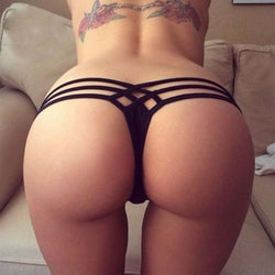 Lady's Hipster Briefs Cut Out Thong