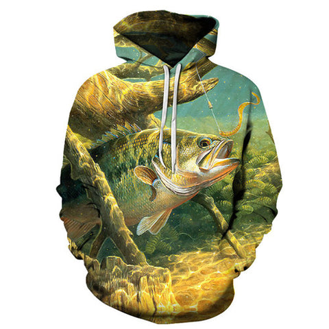 Image of Anime Hoodies Fish 3D Sweatshirt Pullover Tracksuit