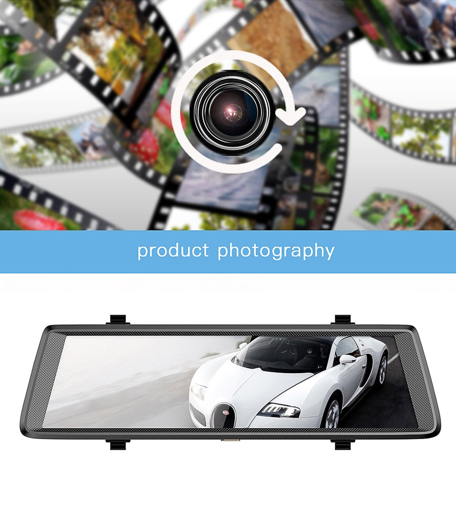 "10"" 4G Dashcam Android mirror DVR GPS navigation ADAS Full HD 1080P"