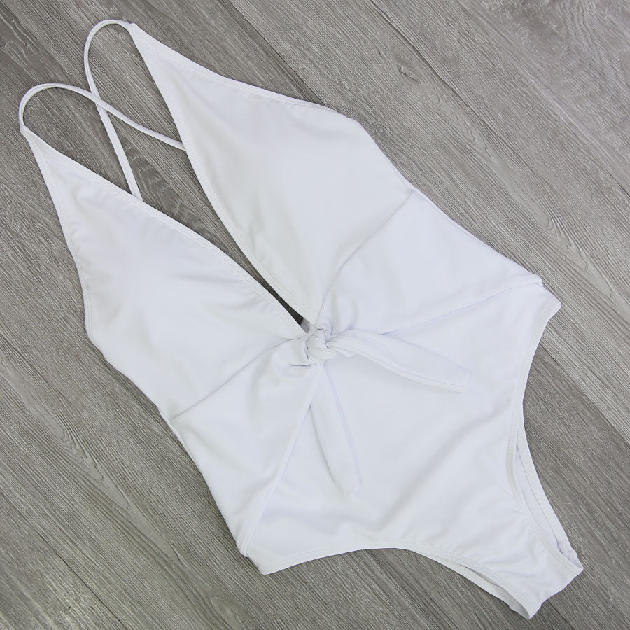 Halter Cross Bathing Suits