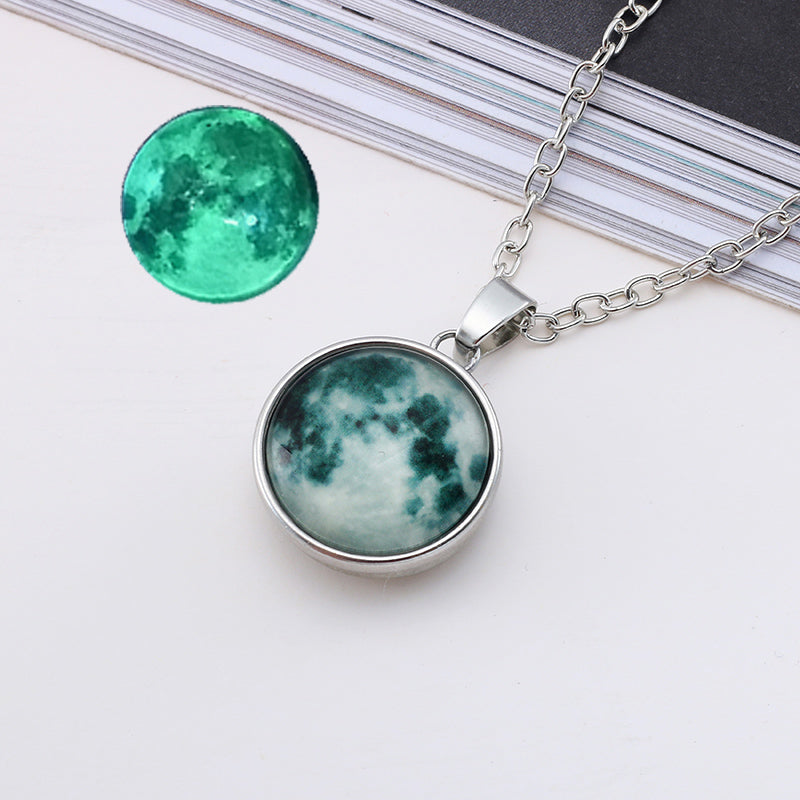 Glowing Full Moon Necklace