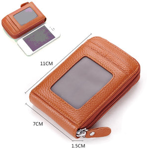 Genuine Leather Unisex Card Holder Wallets