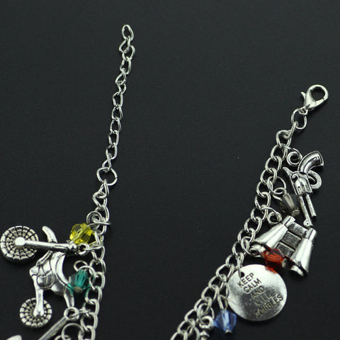 Image of The Walking Dead Zombie Survival Horror Charm Bracelet