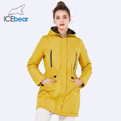Women's Long Thin Jacket With Hat Detachable Autumn Parka