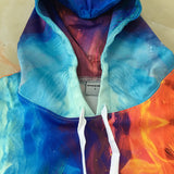Ice Fire Wolf Hoodies 3D Sweatshirts