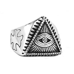 Illuminati Pyramid Eye Symbol Rings