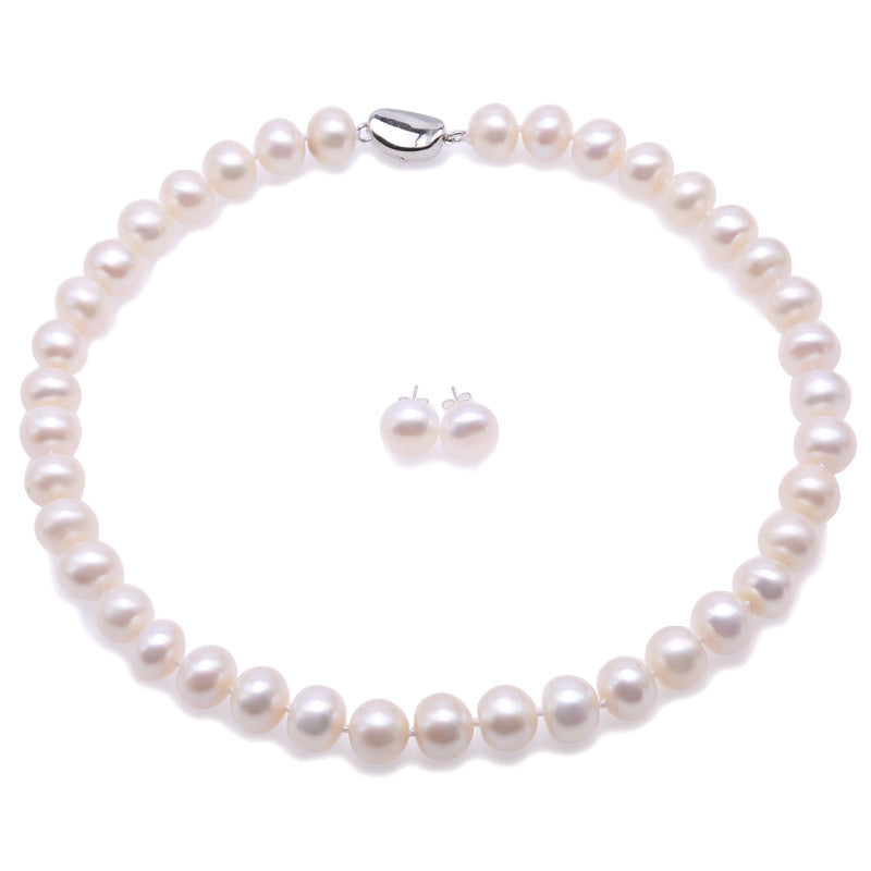 11.5-12.5MM Round Pearl Necklace