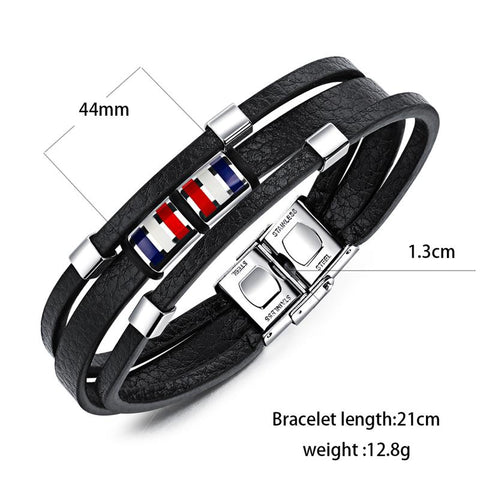 Image of Multi Layer Rope Chain Stainless Steel Clasp Vintage Bracelets