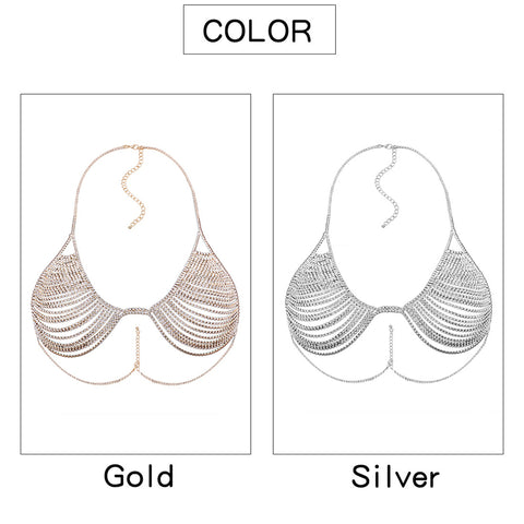 Image of Hollow Bra Chain Shape Accessories