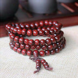 6MM Natural Sandalwood Buddhist Buddha Meditation 108 Beads