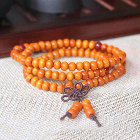 Image of 6MM Natural Sandalwood Buddhist Buddha Meditation 108 Beads