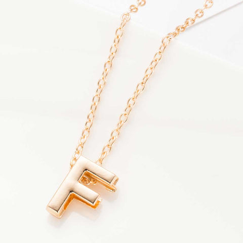 Image of Initial Charm Pendant Necklace