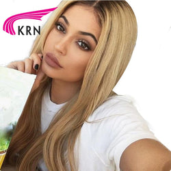 Lace Front Human Hair Wigs With Baby Hair 8-24 Inch Ombre Remy Hair