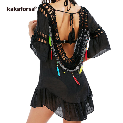 Image of Women Sexy Backless Beach Cover Up