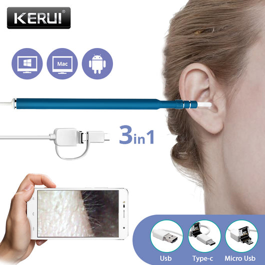 3 in 1 USB OTG Visual Ear Cleaning Endoscope Spoon