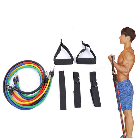 Image of Latex Tubing Expanders Exercise Tubes Strength Resistance Bands Pull Rope Pilates Crossfit