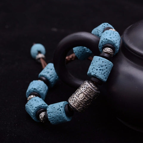 Image of Lava Bracelet with Om Mani Padme Hum