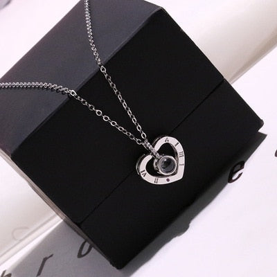 I Love You Charm Pendant Necklace