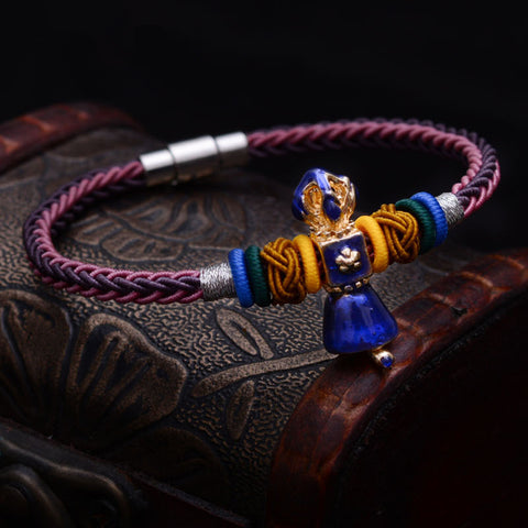 Image of Vajra Bell Braided Bracelet
