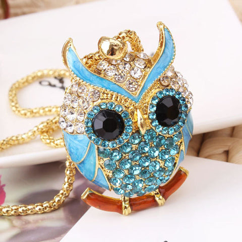 Image of Owl Sweater Chain Necklace