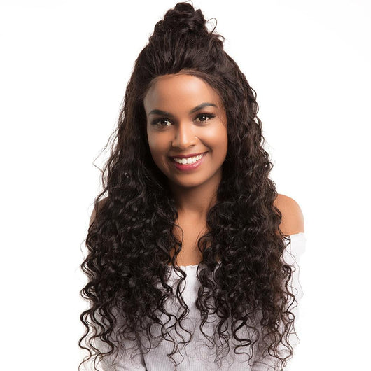 360 Lace Front Human Hair Wigs Deep Wave
