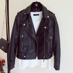 Women's New Year Design PU Leather Jacket