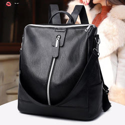 Women Big Zipper Backpack