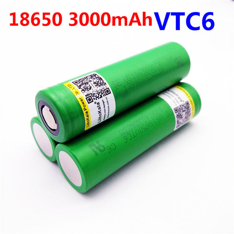 Image of VTC6 3.7V 3000mAh rechargeable Li-ion battery 18650 for Sony US18650VTC6 30A