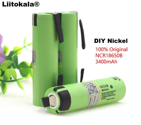 Image of Original NCR18650B 3.7V 3400mAh 18650 rechargeable lithium battery for Panasonic battery
