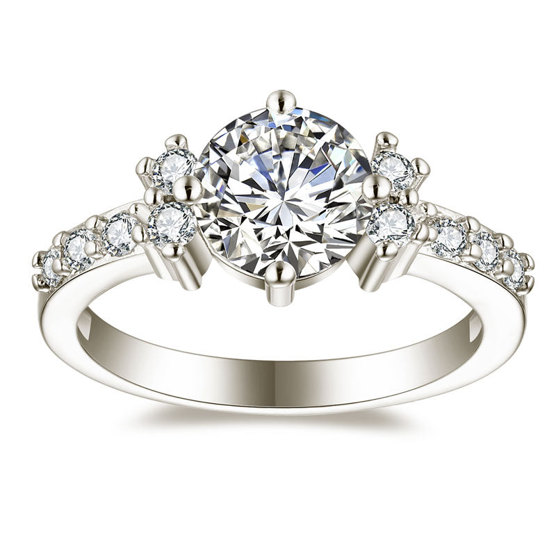 Premium AAA Zircon Engagement Rings