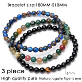 Hematite Beaded Natural Black Stone Yoga Bracelet