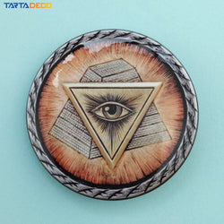 Eye of God Mason Badge Pin