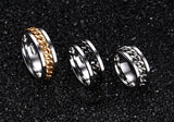 The Punk Rock Stainless Steel Chain Spinner Rings