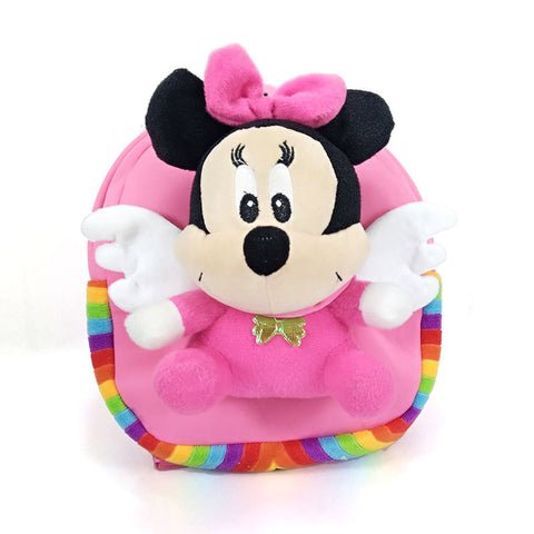 Image of Mickey Minnie Mouse Eggshell Plush Backpacks