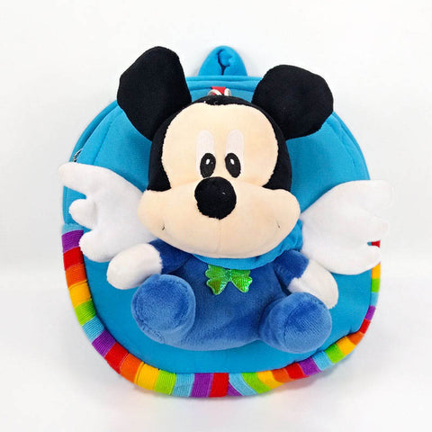 Mickey Minnie Mouse Eggshell Plush Backpacks