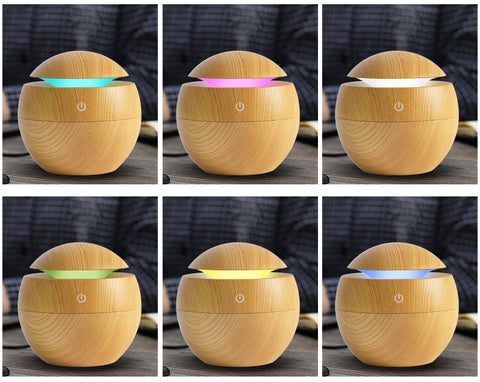 Image of Mini Wooden Aromatherapy Humidifier Aroma Diffuser