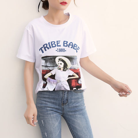 Image of Women Casual Short Sleeve Top Tees