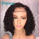Short 13x6 Lace Front Human Hair Wigs Pre Plucked With Baby Hair