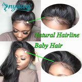 Straight Lace Front Human Hair Wigs Pre Plucked With Baby Hair