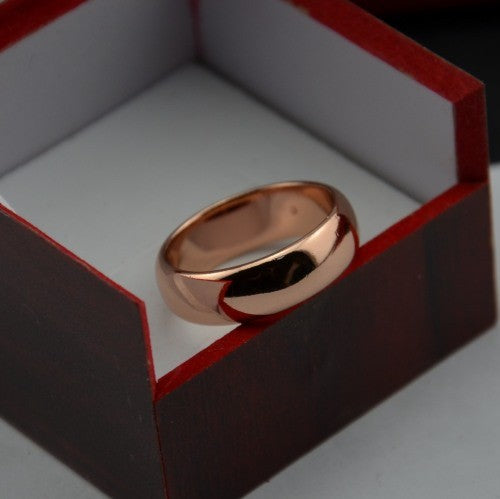 Luxury Never Fading Rose Gold Color 6MM Rings