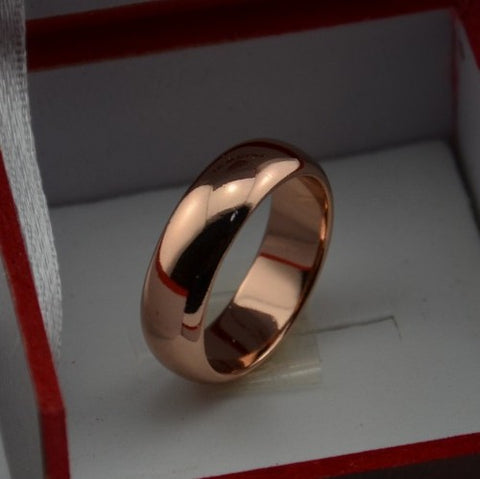 Image of Luxury Never Fading Rose Gold Color 6MM Rings