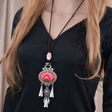 Bohemian Ethnic Big Flower Choker