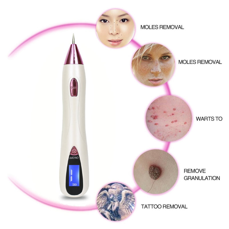 Freckle Moles Removal Laser USB Pen LCD Display Sweep Mole Dark Spot Remover Machine Charged