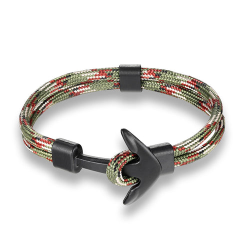 Image of Navy Hand Lucky Survival Hope Anchor Bracelet