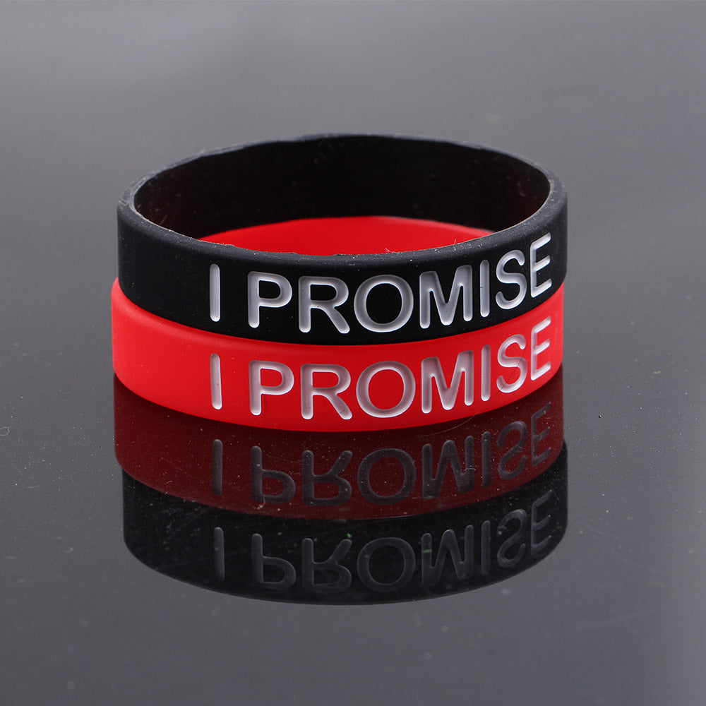 I Promise Basketball Sports Wristband Silicone Gym Fitness Power Bands Energy Bracelets
