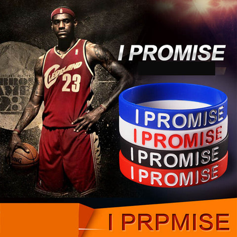 Image of I Promise Basketball Sports Wristband Silicone Gym Fitness Power Bands Energy Bracelets