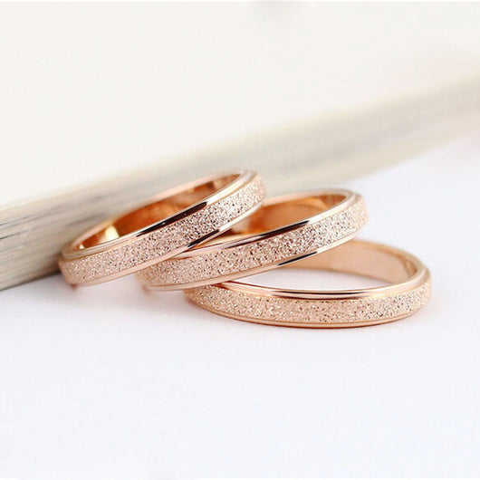 Romantic Dull Polish Love Stainless Steel Couple Rings