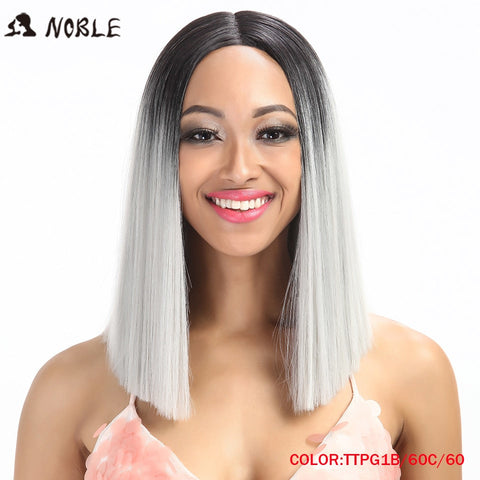 Image of Straight Synthetic Lace Front Wig And T Part 14 Inch Wigs For Black Women